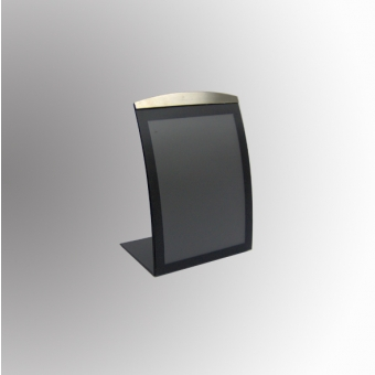 Satellite Table Top Poster/Display Holder - Portrait - Black