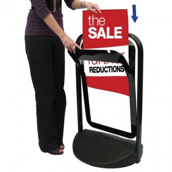 A1 Swinger 4000 Poster Pavement Stand - Black