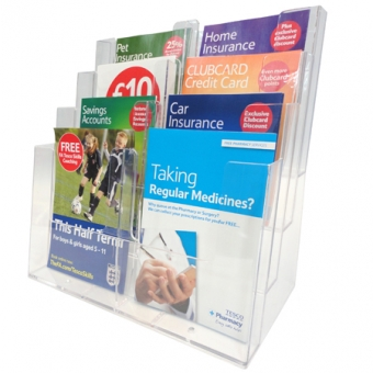 Leaflet Dispensers - Internal Leaflet Dispensers - Freestanding Multi Compartment
