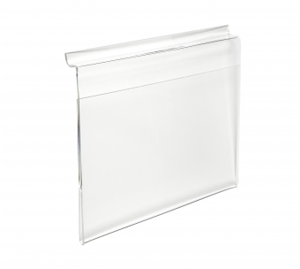 Acrylic Ticket Holders - Acrylic Slat Wall Poster/Ticket Display Holder - Landscape (Single Sided)
