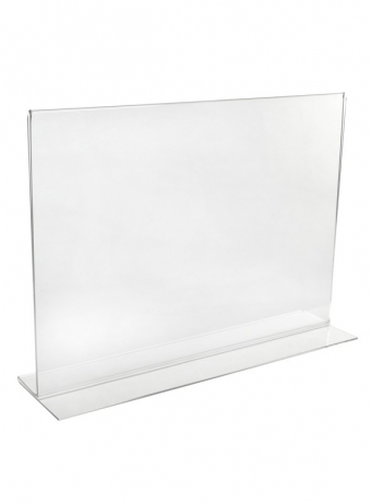Acrylic Ticket Holders - Acrylic Freestanding Poster/Ticket Display Holder - Landscape (Double Sided) - Menu Style