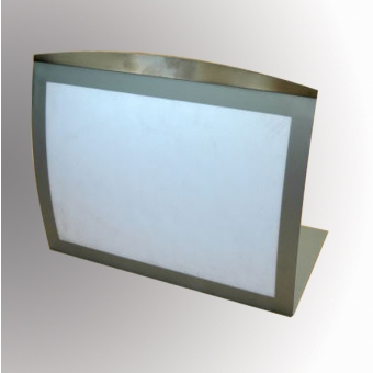 Special Offers - Satellite Table Top Poster/Display Holder - Landscape - Silver/Grey